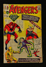 1963  MARVEL  AVENGERS #2 TWO COMIC  with THOR  GIANT MAN  & HULK