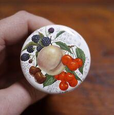 Vintage Victorian Style Fruit Gold Rim Porcelain Cork Wine Stopper UNUSED