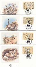 Desert Fox & Cats 1989 WWF 4 Official First Day Covers