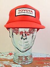 Rare NOS VTG 80's Toyota Industrial Equipment Red Trucker Mesh Hat Cap Snap Back