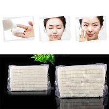 100 Pieces Natural Daily Facial Cut Cotton Pad White/Unbleached No Coloring Puff
