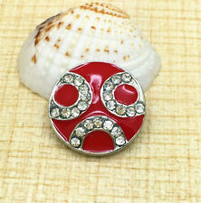NEW Red Rhinestone Chunk Snap Button for Noosa Necklace Bracelet  Earring BUN75
