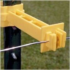 NEW FI-SHOCK IT2XY-FS PACK (25) SNAP ON T POST ELECTRIC FENCE INSULATORS 6865455