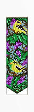 Goldfinches In Grapes Beaded Banner Pattern