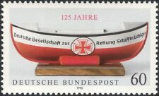 Germany 1990 Lifeboat/Boats/Rescue/Nautical/Ships/Transport 1v (n44961)