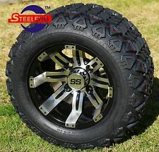 "GOLF CART 10"" TEMPEST WHEELS/RIMS and 18""x9""-10"" DOT ALL TERRAIN TIRES (4)"