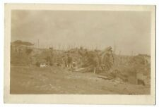 196 Siege Battery, RGA in Action at Bresinghe, Belgium, 1917 RP PPC, USA Studios