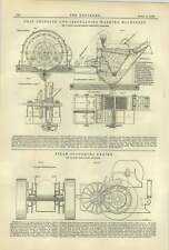 1884 Coal Grinding Washing Machine C Hall Steam Plough Savage Kings Lynn