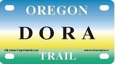 DORA Oregon Trail - Mini License Plate - Name Tag - Bicycle Plate!