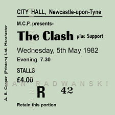 The Clash /Joe Strummer Concert Coasters May 1982 Ticket High quality Coaster