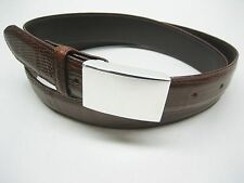 Sterling silver 925, 1 oz engravible or not buckle w/ 30 mm Genuine lizard belt.