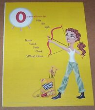 2004 print ad page - Kraft Nabisco Crackers girl archery bow arrows advertising