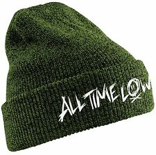 All Time Low 'Scratch Logo Green' Beanie Hat - NEW & OFFICIAL!
