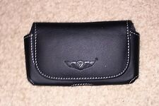 BLACK LEATHER BELT/CLIP CARRYING HOLSTER CASE FOR APPLIE IPONE 4, 4S, 5, 5S NEW