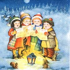 4' unica tavola PARTY TOVAGLIOLI CARTA PER DECOUPAGE Decopatch Singing Bambini