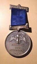 Delay Not Time Flies Awarded For Attendance Victorian Medal w. Pin and Ribbon