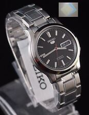 SEIKO 5 SNK795 Stainless Steel Band Automatic Men's Black Watch SNK795K1 + Gift