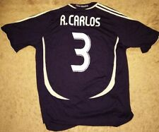 Authentic and Rare Roberto Carlos Adidas Real Madrid 2007 Jersey Size XL