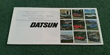 1976 DATSUN RANGE UK BROCHURE CHERRY SUNNY VIOLET BLUEBIRD 260C 260Z JG Allison