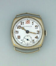 WWI ERA NONESUCH RECTA MILITARY CUSHION SHAPED WRIST WATCH – WIRE LUGS – RUNS !