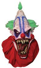 Halloween LifeSize Costume BIG TOP CLOWN LATEX DELUXE MASK Haunted House NEW