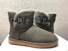 UGG CLASSIC MIN AURELYN PRIMER GREY GRAY SUEDE BOOT US 10 / EU 41 / UK 8.5 - NIB