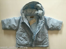 BNWT Timberland Winter Padded Lined Baby Jacket / Coat Hooded 6 Months Blue