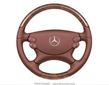 Mercedes Benz Volant gainé de cuir bois accent-rouge Noyer B66270766 CLK 208