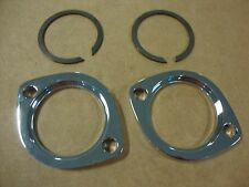 BIG DOG CHROME EXHAUST FLANGE SET  TWIN CAM EVO 84-UP HARLEY BDM