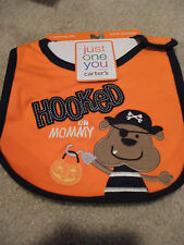 Carter's Halloween Baby Boy NWT Pirate HOOKED ON MOMMY Feeding Teething Bib