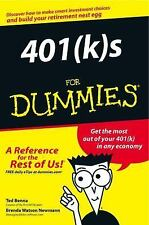 401(k)s for Dummies® by Ted Benna and Brenda Watson Newmann (2002, Paperback)