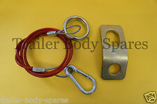 FREE 1st Class Post - Breakaway Cable & Fixing Bracket for Caravans & Trailers