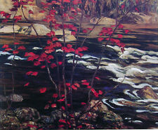 "A.Y. Jackson, Group of Seven ""The Red Maple"" Large Print"