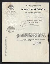 "PARIS (XI°) GRAVURES sur métal ""Edgar & Maurice GODON"" en 1951"