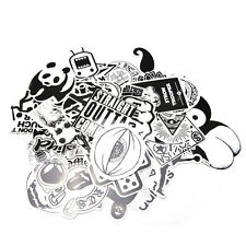 60x/Set Sticker Car Decor Accessory Black White Stickerbomb Case Decals DecorLAU