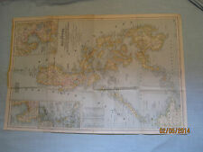 VINTAGE THE PHILIPPINES MAP National Geographic March 1945  MINT