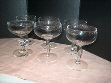 WINE / MARTINI /CHAMPAGNE GLASSES SET OF 6 OLD FASHION STYLE 5 GUEST 1 HOST NICE