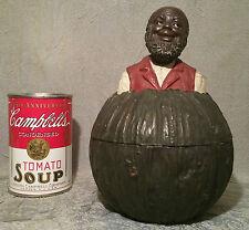 JOHANN Maresch austria blackamoor antique vtg humidor black tobacco americana