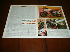 1988 KAWASAKI NINJA 750R DUBLIN KAW BONNEVILLE RACE BIKE  ***ORIGINAL ARTICLE***