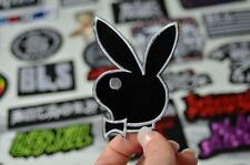 PLAY BUNNY Black Bow Tie Model Girl Mansion Logo Magazine Patches Iron On Patch