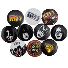 10 x 38mm KISS Army Logo Destroyer Button Badge Set New Official Band Merch