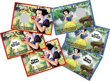 SNOW WHITE PERSONLIZED SCRATCH OFF OFFS PARTY GAME CARDS BIRTHDAY FAVORS
