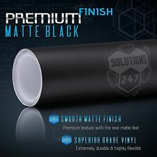 "Matte Flat Black Vinyl Wrap Bubble Free Air Release - 60"" x 120"" In 5FT x 10FT"