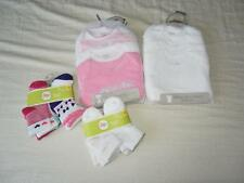 Lot of New Baby Girl's Carter's Bodysuits (Sz 3m) and Circo Socks (Sz 6-12m)
