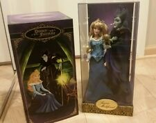 New Disney Store Limited Edition Fairytale Designer Aurora Maleficent 2 Doll Set