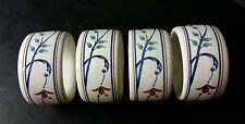 "MIKASA CHINA INTAGLIO CAC20 ""ANNETTE"" NAPKIN RINGS - SET OF 4 - EXCELLENT"