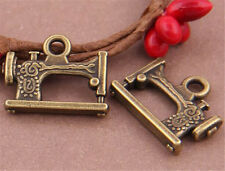 PJ725 8pc Antique Bronze Sewing machine Pendant Bead Charms Accessories