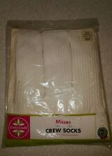 NWT Vintage Crew Socks LADY LINDA Women's Size 10 3 Pairs Deadstock old stock