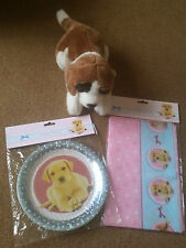 PUPPY PARTY DOG PLASTIC TABLECOVER ~ Pet Birthday Supplies Tableware,Doggy,Dog,