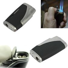 Honest Double twin jet torch windproof lighter with cigar punch